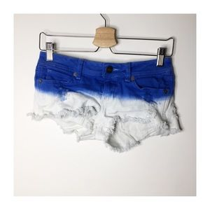 Kendall & Kylie blue tie dye studded shorts
